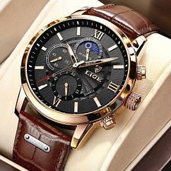 Lige Чоловічі годинники Lige Signature Black