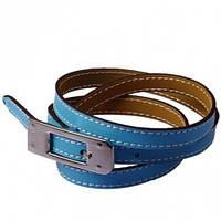 Браслет в стиле Hermes - голубой