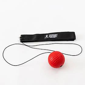 Тренажер fight ball (файт бол) м'ячик для боксу на резинці OSPORT Lite Plus (OF-0007)