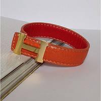 Браслет в стиле Hermes - рыжий