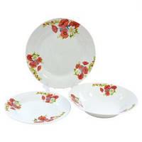 Набор столовой посуды Маки и ромашка 18 предметов Оселя