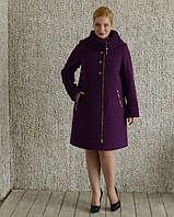 Пальто трапеция большие размеры 50-56р