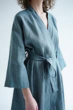 Жіночий лляної халат ТМ Линтекс