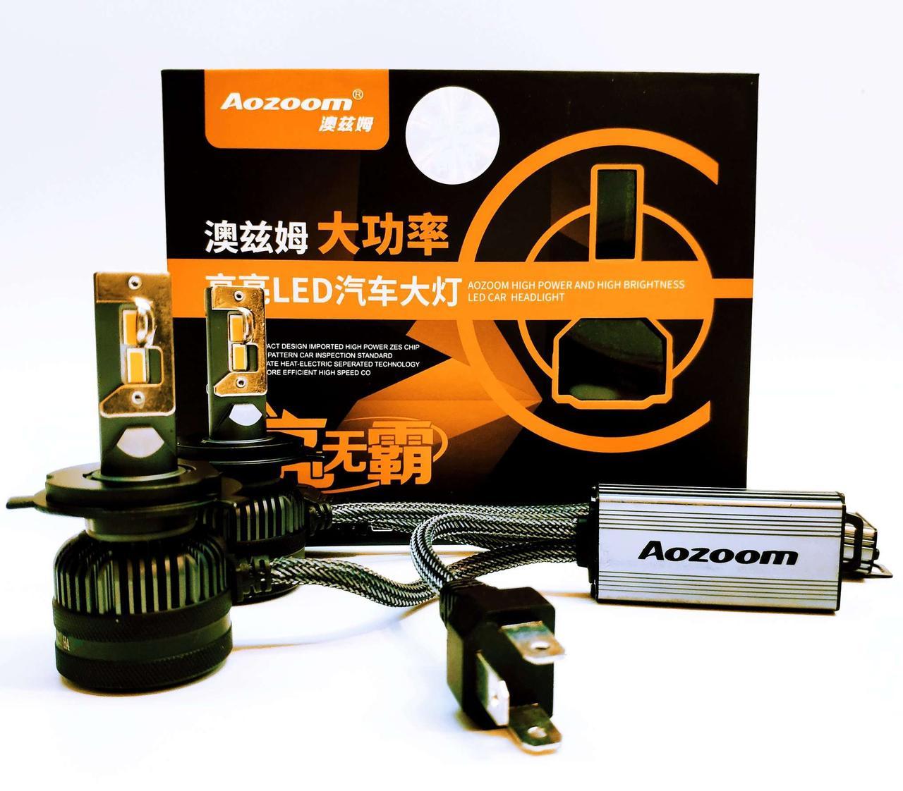 Автолампи LED світлодіодні Aozoom L8 Н4 90Вт Canbus 7600Лм 12В