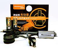 Автолампы LED светодиодные Aozoom L8 Н4 90Вт Canbus 7600Лм 12В, фото 1