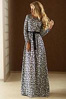 Красивое платье в пол принт