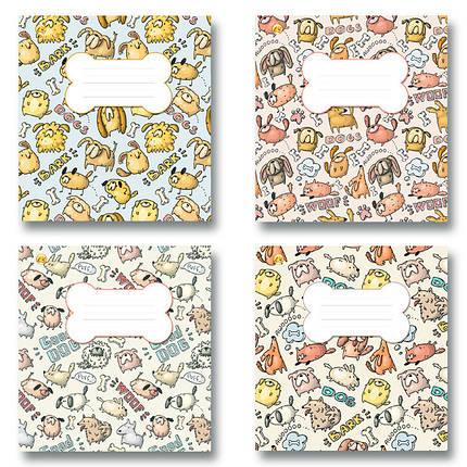 Зошит 12 аркушів, коса лінія з доп., 4 види, 25 шт. в упаковці, Тетрада, 407018, фото 2