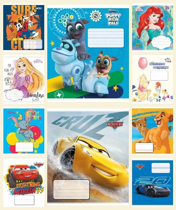 Зошит 12 аркушів, лінія, Disney, 25 шт. в упаковці, Тетрада, 93013