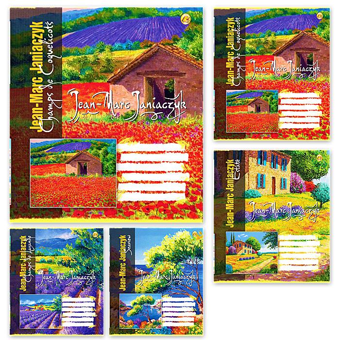 Тетрадь 18 листов, клетка, 5 видов, 20 шт. в упаковке, Тетрада, 834014