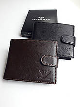 Шкіряний чоловічий гаманець Armani Армані портмоне з коробкою