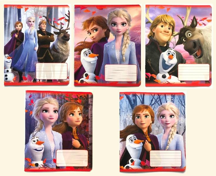 Зошит 18 аркушів, клітинка, Disney, серія Frozen, 20 шт. в упаковці, Тетрада, 161010