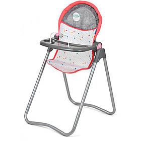 Стільчик для годування для ляльок Hauck D-92805 Сіро-рожевий