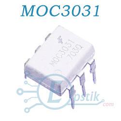 MOC3031, оптопара с симисторным выходом 250В, DIP6