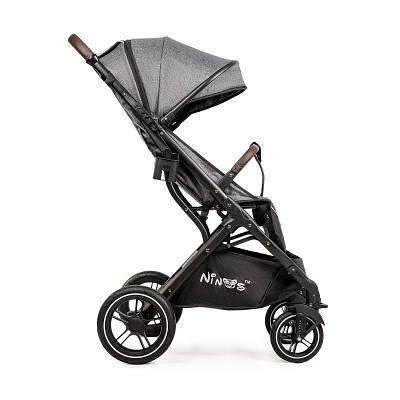 Дитяча прогулянкова коляска Ninos Uno Light Grey / Gold