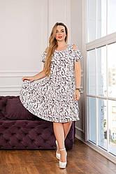 Жіноче літнє плаття трапеція ,тканина штапель,розміри 46,48,50