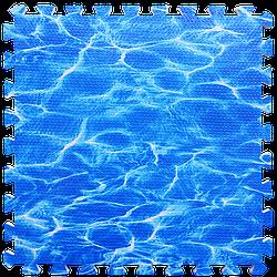 Мат татамі пазл ЕВА модульне покриття на підлогу EVA ластівчин хвіст складаний килимок 60х60х1 см океан