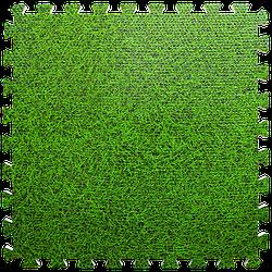 Мат татамі пазл ЕВА модульне покриття на підлогу EVA ластівчин хвіст складаний килимок 60х60х1 см зелена трава