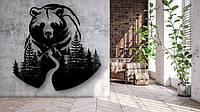 Декоративное панно Медведь и лес