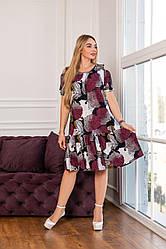 Жіноче літнє,ошатне плаття ,тканина віскоза, розміри 50,52,54,56,58