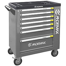 Візок для інструменту з 7 полицями і 1 секцією ANDRMAX