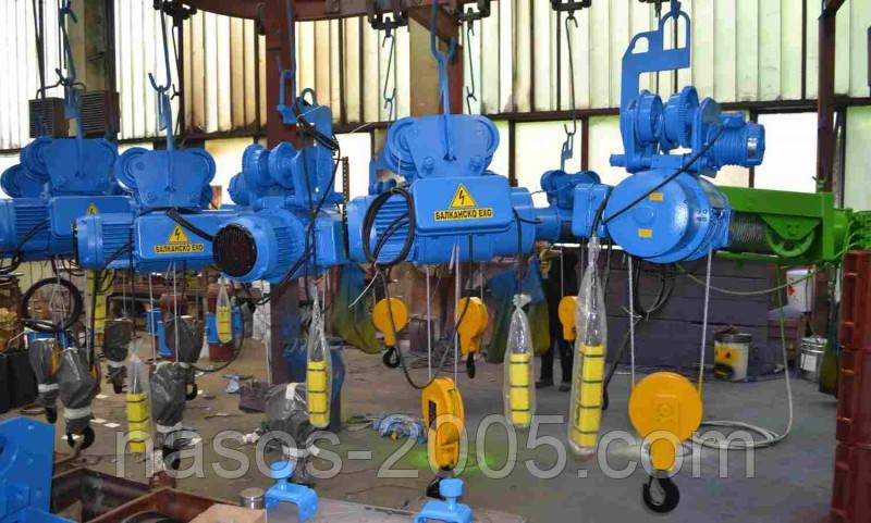 Канатний електричний тельфер 1т з висотою підйому 24м і двома каретками