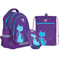 Набір рюкзак + пенал + сумка для взуття 724 Catsline Wonder Kite