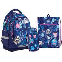 Набір рюкзак + пенал + сумка для взуття 724 Jungle Wonder Kite