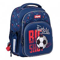 Рюкзак шкільний S-106 Football синій 1Вересня