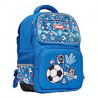 Рюкзак шкільний S-105 Football синій 1Вересня