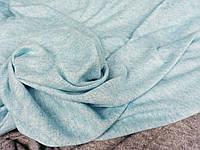 Голубой меланж. Ткань трикотажная ангора,  мягкая, фото 1