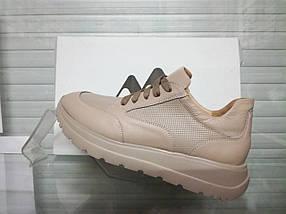 Жіночі бежеві кросівки Morento 0307, фото 3