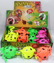 ОПТ!!! Силіконова жаба -Антистрес 12 шт в упаковці