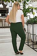/ Розмір 52,54,56,58,60,62 / Жіночі штани для дам з пишними формами з льону, фото 2