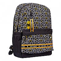 Рюкзак TS-56 Smiley World.Black&Yellow чорний Yes