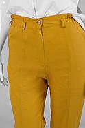 / Розмір 52,54,56,58,60,62 / Жіночі штани для дам з пишними формами з льону, фото 3