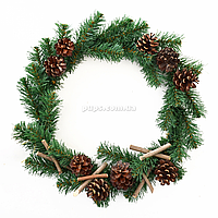 Венок Yes! Fun Рождественская ночь с украшением d-40см Зеленый (904204)