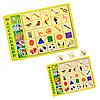 Игра сортер «Ассоциации - 3», деревянная игрушка, пазлы, вкладыш, Ань-Янь, 32*23*1 см, от 3 лет, (ПСД100)