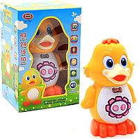 Интерактивная игрушка умный утенок арт. 7497. Детские аудиосказки, стихи, песни и скороговорки