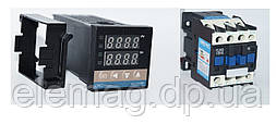 REX-C100 RELAY Термостат з аварійним реле і контактором 18 ампер CJX2-1810 1NO 220V