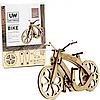 Дерев'яний конструктор сувенір колекційна модель «Unitywood» велосипед, 40 деталей (4820249160015). 3D-пазл