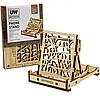 Дерев'яний конструктор підставка для телефону з дерева phone stand «Unitywood», 22 деталі (4820249160008).