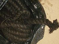 Каболка смоляная, канат промасленый д. 10-50 мм для чеканки труб, фото 1