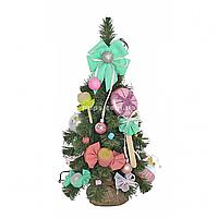 Искусственная елка Yes! Fun Зефиринка с украшениями Зеленая 0,45м (904298)