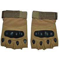 Перчатки тактические Oakley с кастетом койот