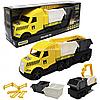 Машинка «Грузовик со строительными контейнерами» Wader Magic truck Technic желтая 78*27*18 см (36470)