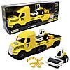 Машинка «Эвакуатор с катком» Wader Magic truck Technic желтая 78*27*18 см (36450)