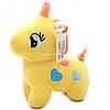 Мягкая игрушка «Пони» - единорог (световые эффекты) желтый 25х9х20 см (M064)
