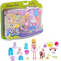 Игровой набор Polly Pocket Маленькая модница Блондинка с щенком (GBF85)