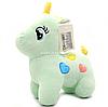М'яка іграшка «Поні» - єдиноріг (світлові ефекти) м'ятний 25х9х20 см (M064)