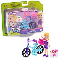 Игровой набор Polly Pocket Модница на колесах Приключение Полли на велосипеде (GFP93)